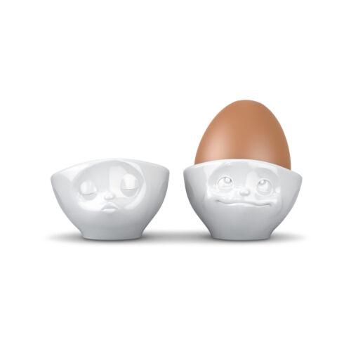 Fiftyeight 6er Eierbecherset küssend verträumt lecker och bitte glücklich hmpff