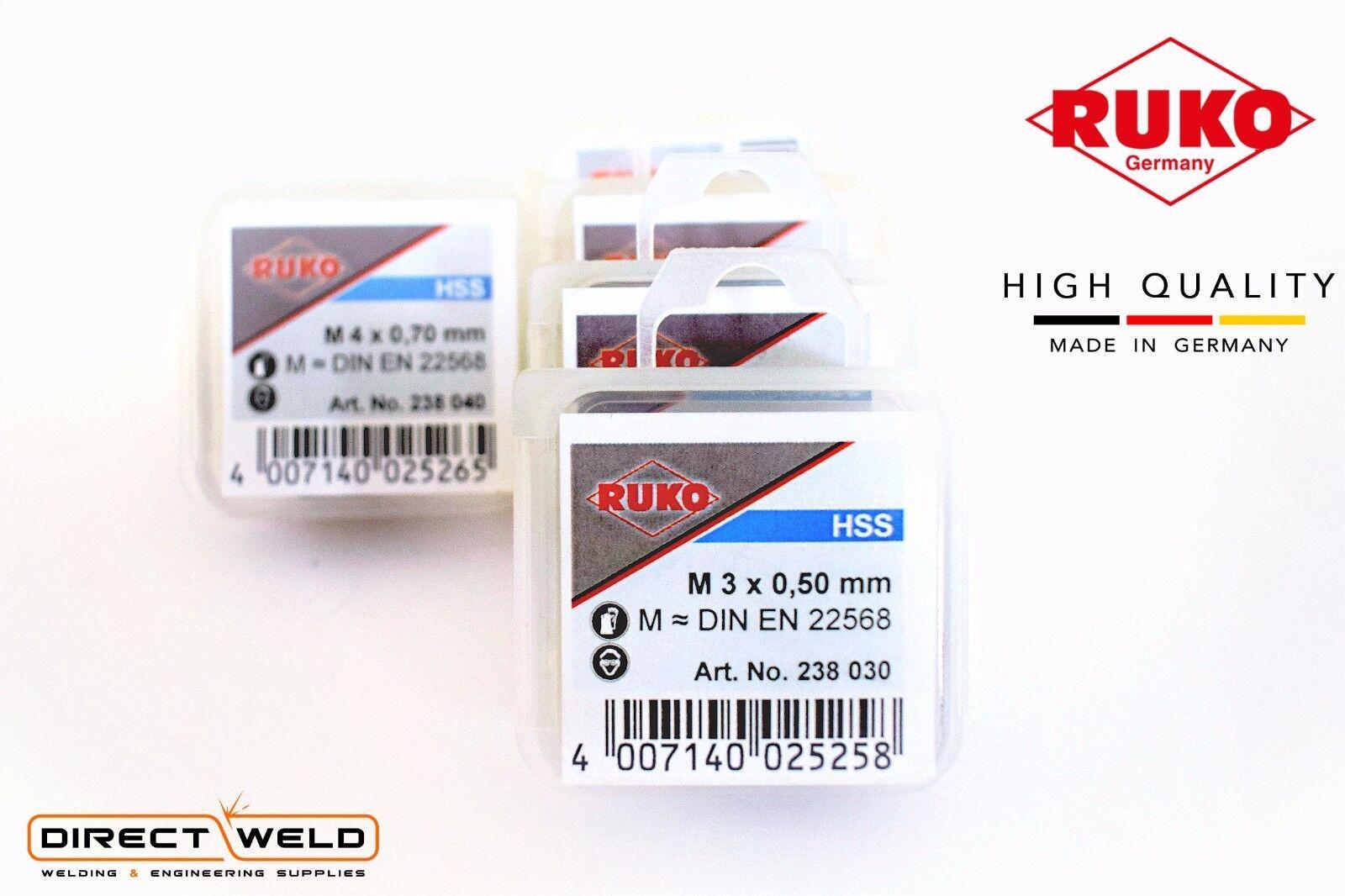 M12 HIGH QUALITY HSS Left Handed Thread choose Size: M3 RUKO Round Die