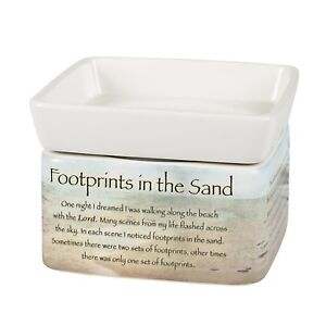 Footprints-in-the-Sand-Ceramic-Electric-2-in-1-Jar-Candle-and-Wax-and-Oil-Warmer