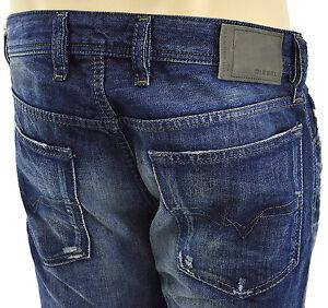 $228 Diesel Jeans bleu effet vieilli Waykee homme regular 0837 A denim nouvelle collection
