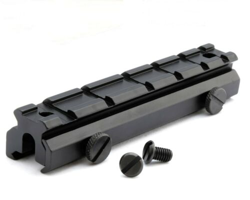 20mm Weaver Picatinny portata 20mm ALZATA Rail Mount 6 slot SGANCIO RAPIDO M0009