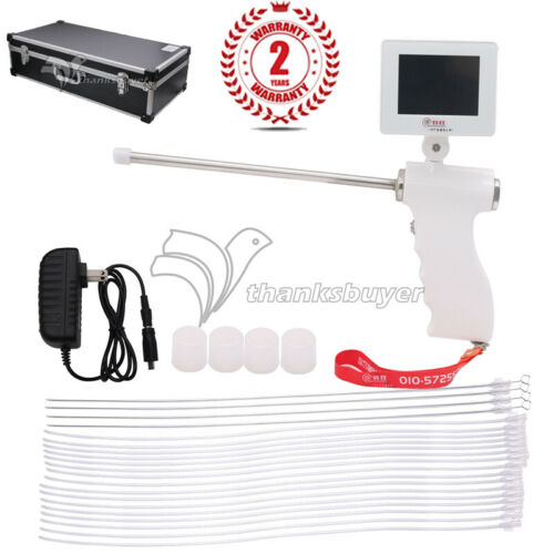 Visual Artificial Insemination Gun Sheep Insemination Kit 15MP Camera 360°Screen