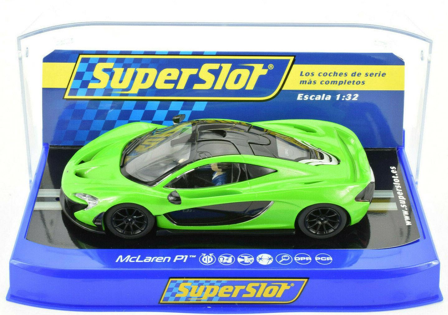 Scalextric Mantis Green McLaren P1 PCR DPR W  Lights 1 32 Scale Slot Car C3756