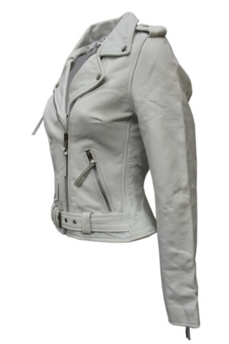 Ladies Style White Casual Brando Fashion New Jas Leren Designer Biker Hide fxTPq5qU