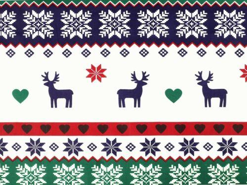 De toalla weihnachtsstoff a rayas a partir de 0,5m Hirsch rojo-verde