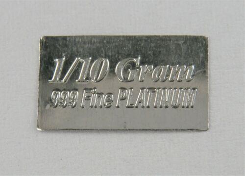 PLATINUM Pure .9995 PLATINUM 1//10 of a gram INVESTMENT BULLION BAR A7