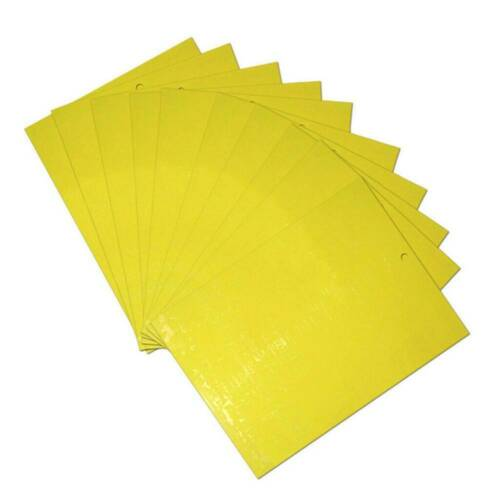 20-Pack Dual-Sided Yellow Sticky Traps for Fungus Gnat Whitefly Leafminers Aphid