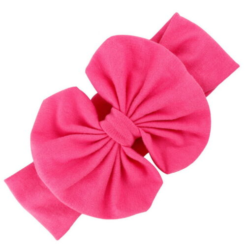 Girls Baby Cotton Bow Hairband Stretch Turban Knot Head Wrap for Kids JP