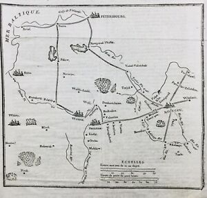 Rare-Plan-Bataille-la-Moskowa-1812-Moscou-Napoleon-Borodino-Campagne-de-Russie