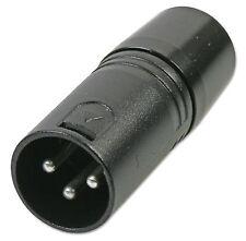 PULSE    3 Pin XLR DMX Terminator (2 Pack)  Black metal