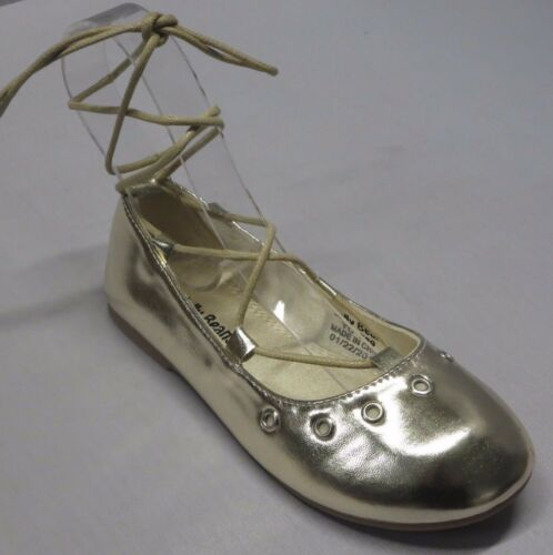 WHERE Girl Dress Flats w//Lacing Toddler Pageant Flower Girls Party Silver Gold