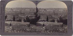 Panorama Da Gerusalemme Israele Palestina Foto Stereo Stereoview Vintage