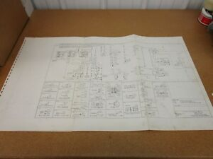 1976 ford f500 f600 f750 truck wiring diagram sheet schematics rh ebay com