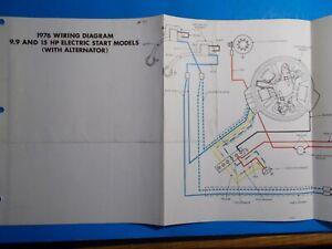 1976 JOHNSON OUTBOARD MOTORS 9.9HP & 15HP ELECTRIC START ...