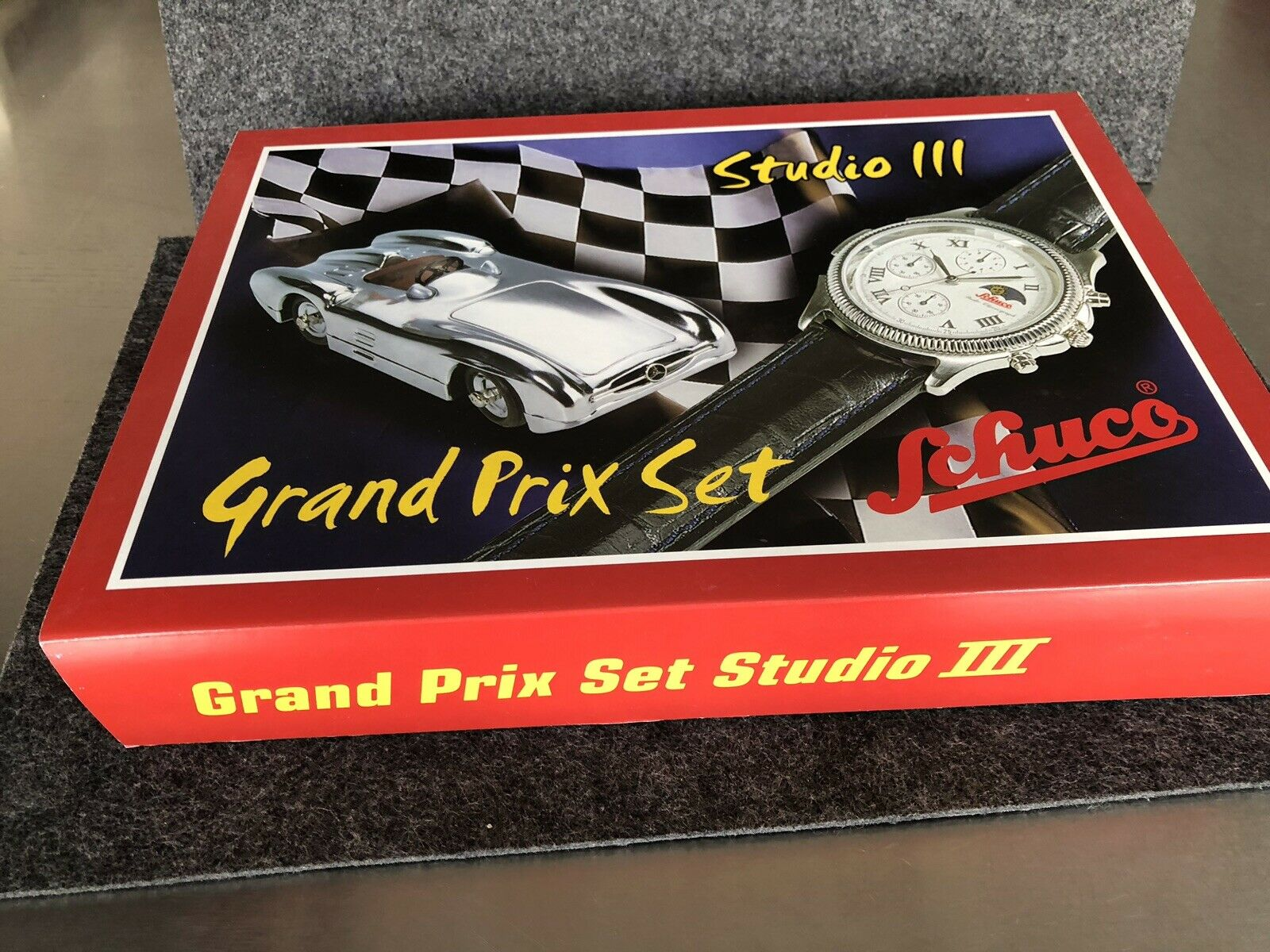 Schuco Grand-Prix-Set OVP Auflage 1999St.mit einer Schuco Uhr