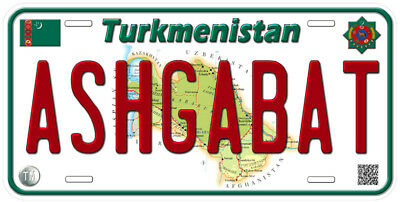 Turkmenistan Any Text Personalized Novelty Aluminum Car License Plate