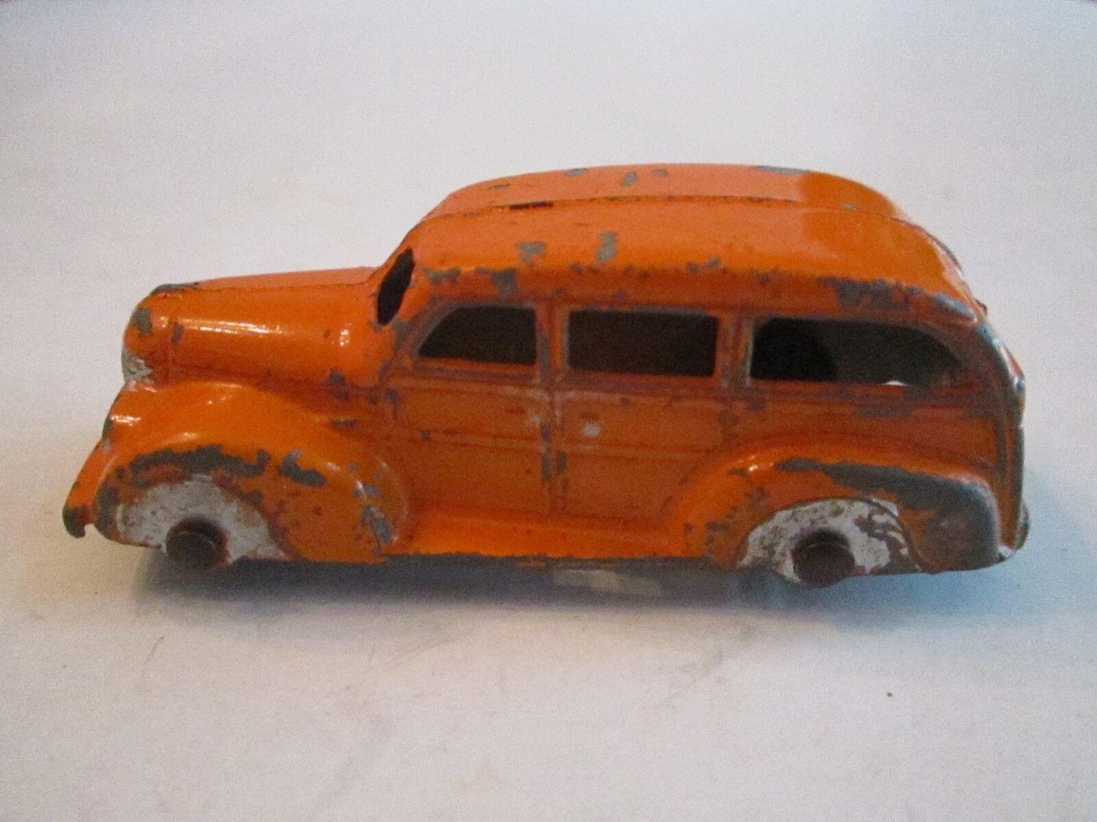 TOOTSIE TOY orange CAR - 3  - MB 1