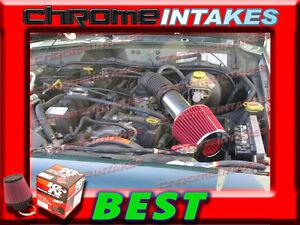 K/&N+BLACK RED 93-98 JEEP GRAND CHEROKEE//LAREDO 5.2L 5.9L V8 AIR INTAKE KIT 2