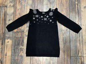 f5d38b1664e Image is loading NWT-Gymboree-Holiday-Snowflake-Sweater-Black-Dress-Girls-