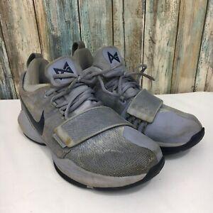 half off 9322e e4c43 Nike PG 1 Paul George Men's 8.5 Grey Navy Blue Basketball Shoes ...
