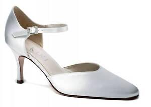 Ivory Satin Bridal Bridesmaid Wedding Shoe All Sizes Pure /& Precious Celeste H//H