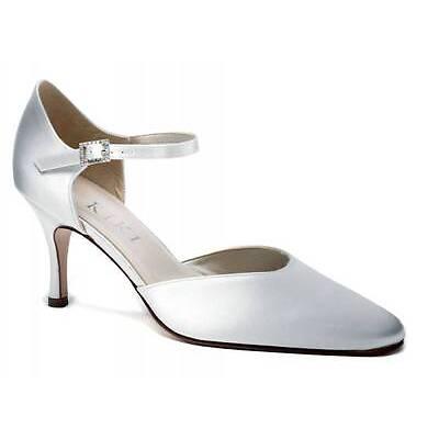 Ivory Satin Bridal Bridesmaid Wedding Shoe All Sizes Pure & Precious Celeste H/H