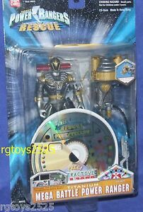 Power Rangers Lightspeed Rescue Titanium Mega Ranger de bataille Nouveau W Cd Rom 45557044794