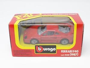 1-43-BBURAGO-BURAGO-DIE-CAST-METAL-MODEL-4108-FERRARI-F40-F-40-NIB-QV3-037