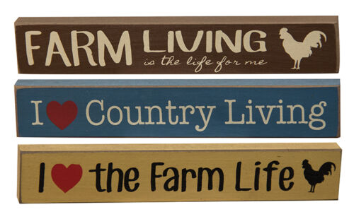 I Love Country Living the Farm Life Farm Living Mini Signs Set of 3