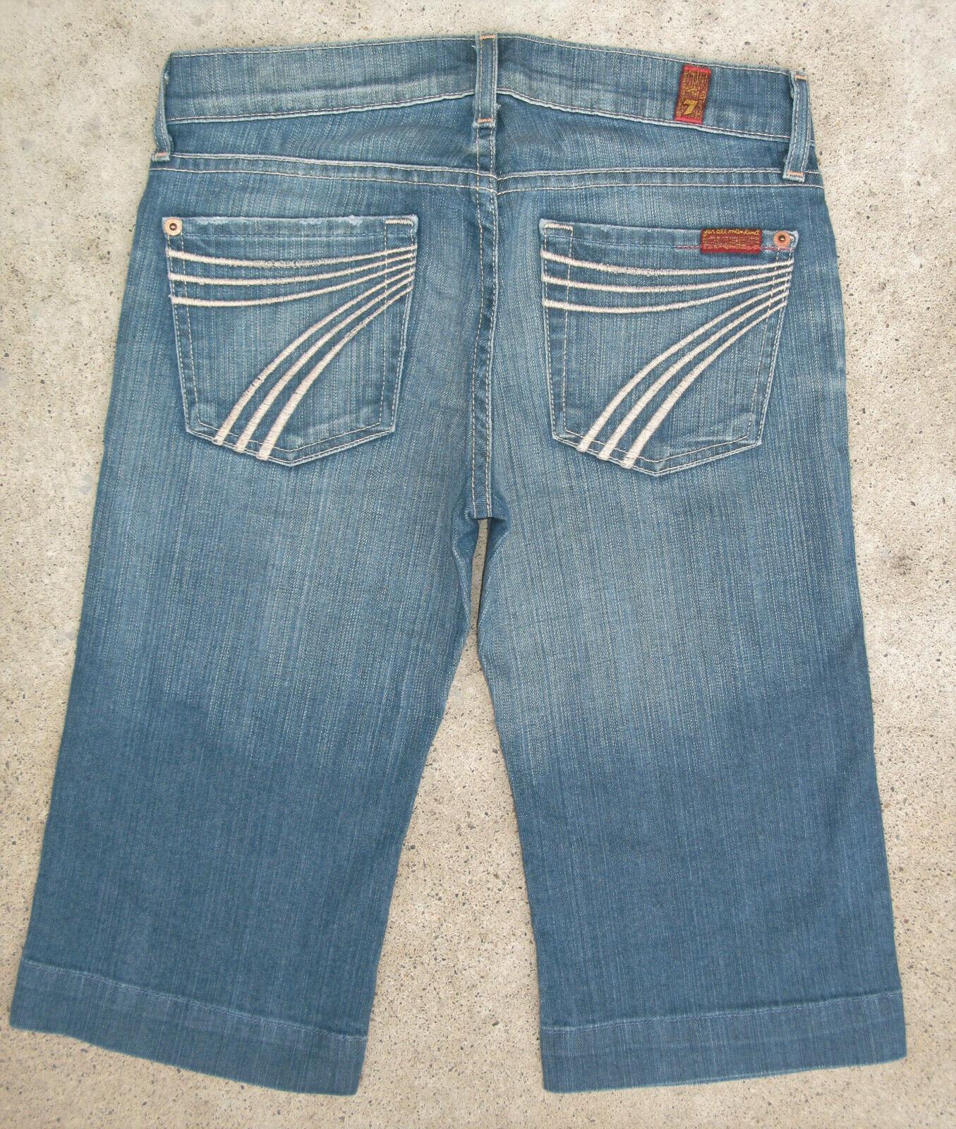 7 For All Mankind Dojo Jeans Gekürzt Kurz Sz 25 Stretch Antik Charlotte Waschung