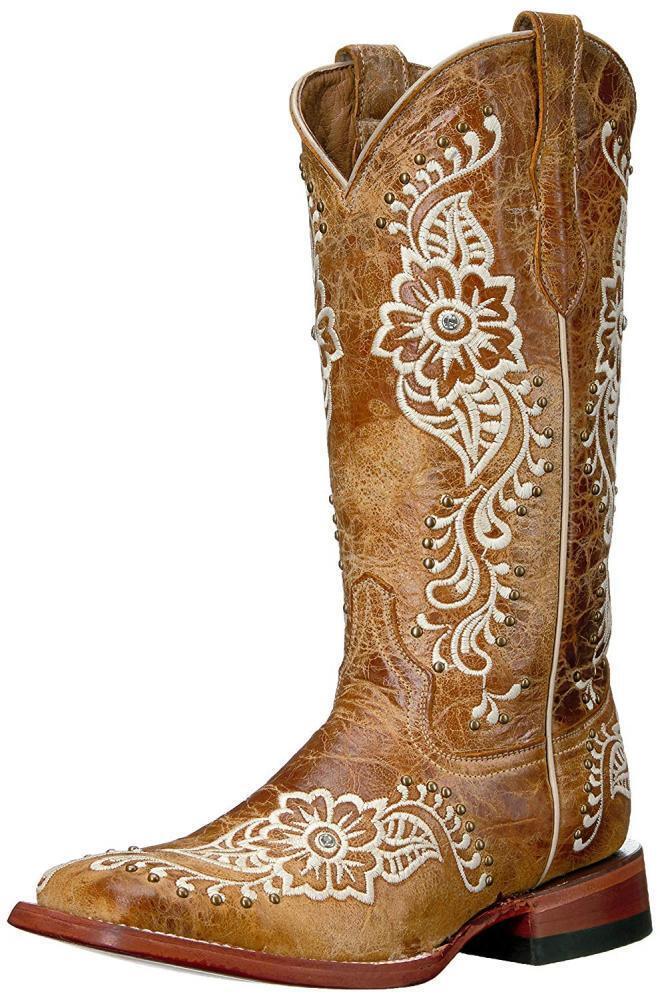 Ferrini Mujer Damas Flor Silvestre un dedo del pie cuadrado Bota S