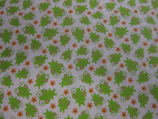 Small Frog Print - Riley Blake 'Sweet Baby Girl' 100% cotton fabric per FQ