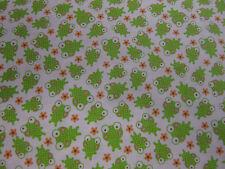 Small Frog Print - Riley Blake 'Sweet Baby Girl' 100% cotton fabric per FQ