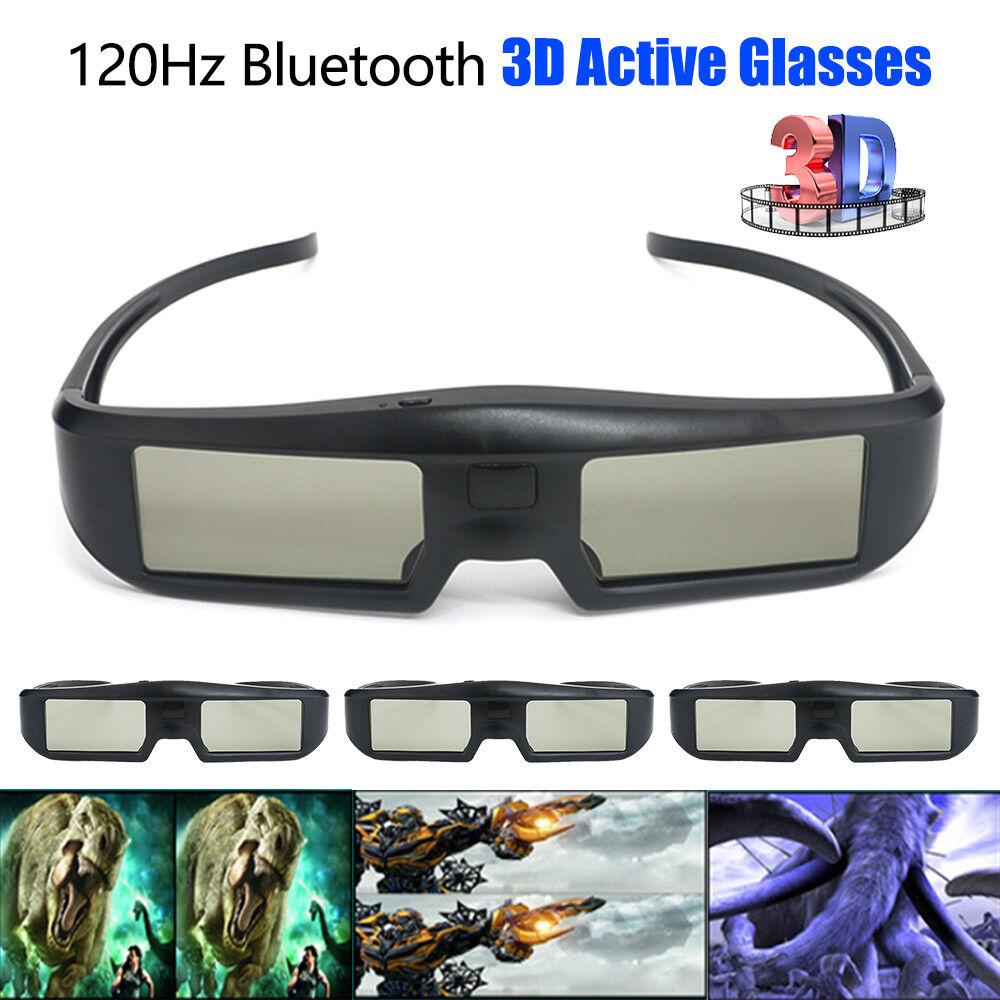4xWireless 3D Active Shutter Glasses USB Rechargeable Fr Samsung Sony Panasonic