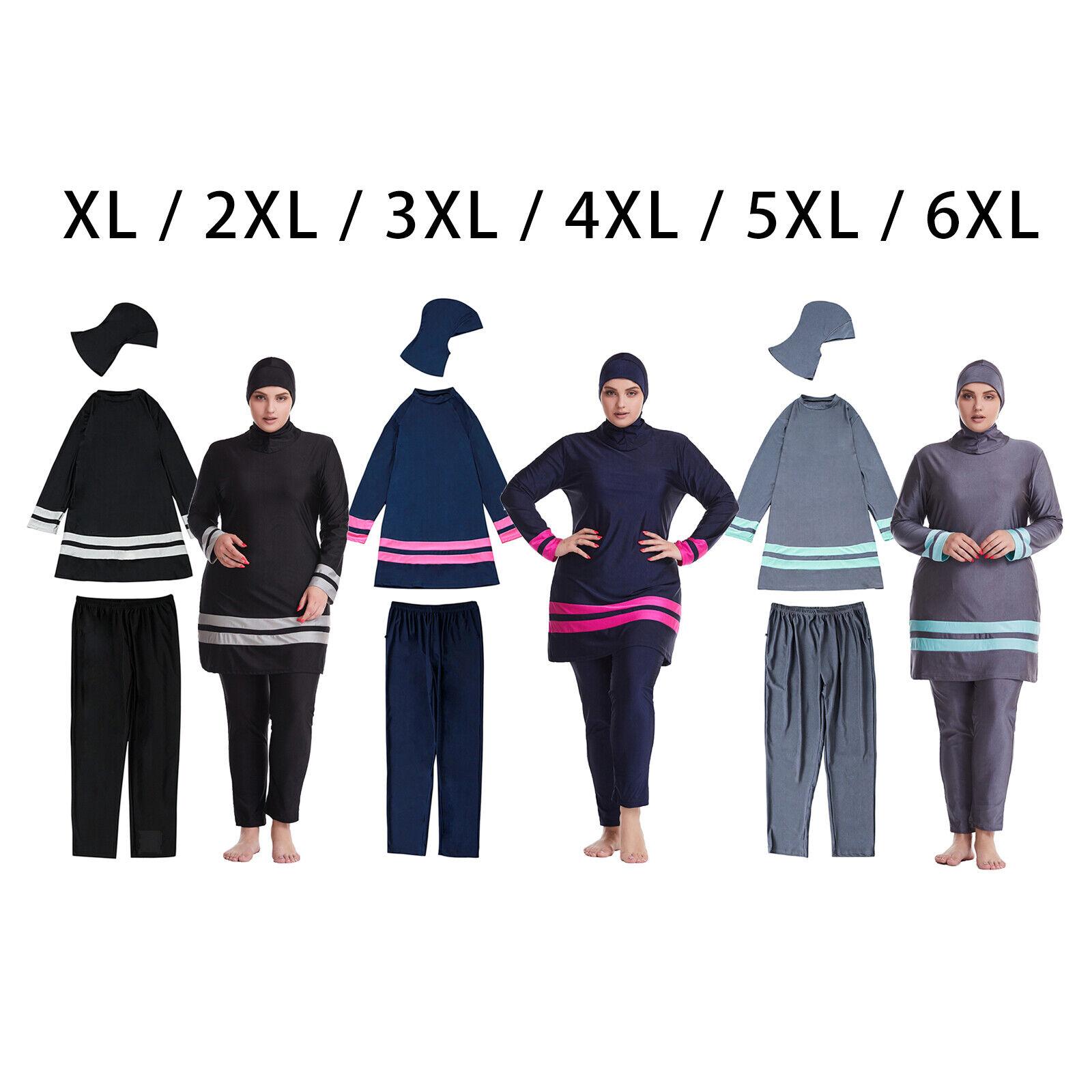 Modest Badeanzug Sommer Muslimische Bademode Bademode Beachwear Plus Size