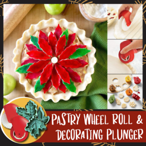 6PCS Christmas Pastry Tools Pastry Wheel Roll and Decorating Plunger Beauty