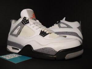 104d2a608d6e85 Nike Air Jordan IV 4 Retro WHITE CEMENT GREY BLACK FIRE RED OG ...