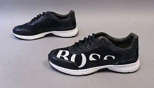 Boss-Hugo-Boss-Men-039-s-Velocity-Logo-Running-Shoes-AB3-Dark-Blue-Size-US-9