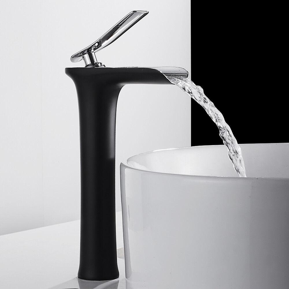 Hoch Waschtischarmatur Badarmatur Wasserfall Wasserhahn Mischbatterie BadArmatur