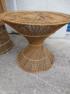 Image Is Loading Cute Wicker Table Base Shabby Chic Coastal Cottage