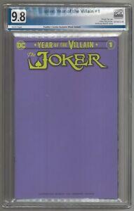 Joker Year of the Villain #1 Blank Purple Sketch Variant 9.8 NM/MT LIMITED 1000