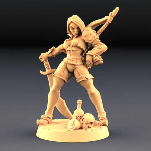"""Troubles in Tavern """"Aline the bold A"""" Artisan Guild28mm-35mmBoneshop"""
