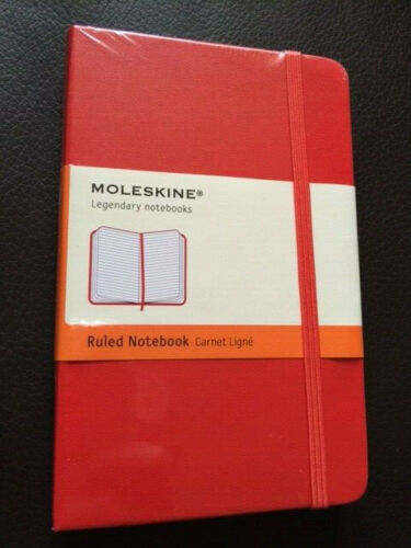 NEW Moleskine RED Pocket RULED NOTEBOOK HARD 192 PG CLASSIC COLLECTION #930000