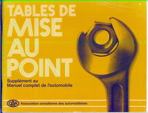 LIVRE-1982-TABLES-DE-MISE-AU-POINT-VEHICULES-1972-81