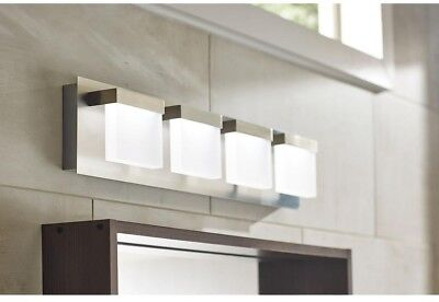 4-Light LED Bath Bar Light Brushed Nickel Bathroom Vanity ...