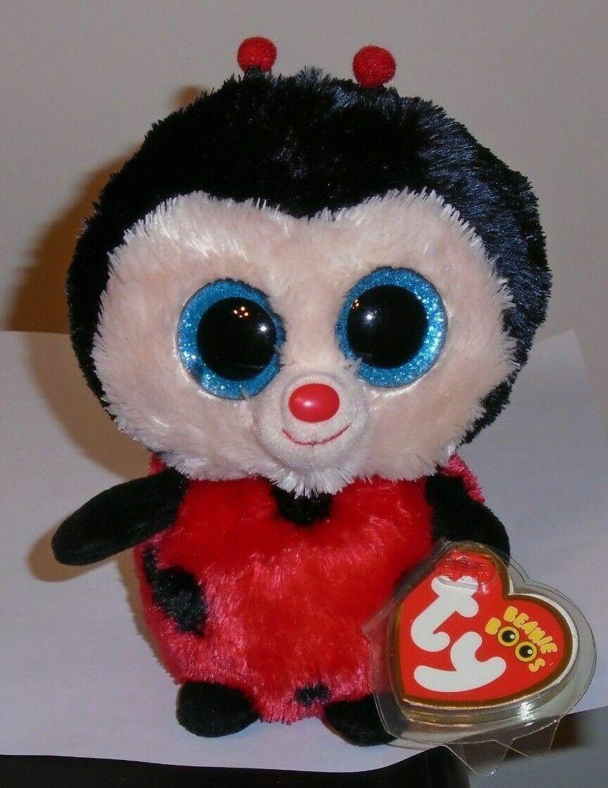 Glitter Eyes NM* Ty Beanie Boos ~ BUGSY the Ladybug NM 6 Inch