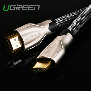 UGREEN-Braided-Ultra-HD-HDMI-Cable-V2-0-High-Speed-2160p-4K-3D-CHROME-HDTV-Gold