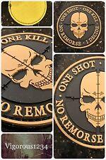 SNIPER Punisher ONE SHOT KILL Death Skull DEVGRU PVC SWAT Army Morale 3D Patch