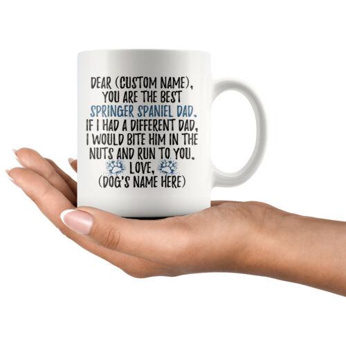 Springer Spaniel Dad Daddy Mug Personalized Springer Spaniel Owner Men Gifts