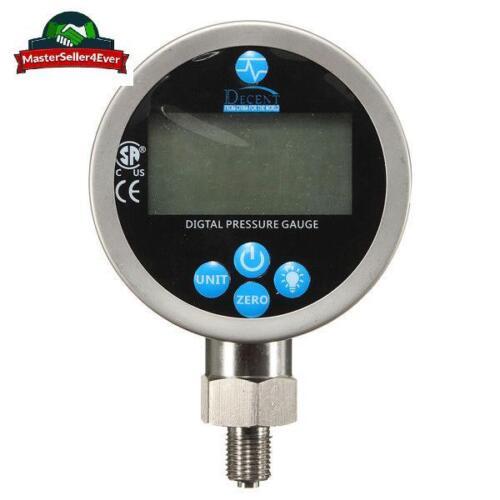 400BAR//40Mpa affichage numérique Huile Hydraulique Jauge De Pression test compteur /& Manuel